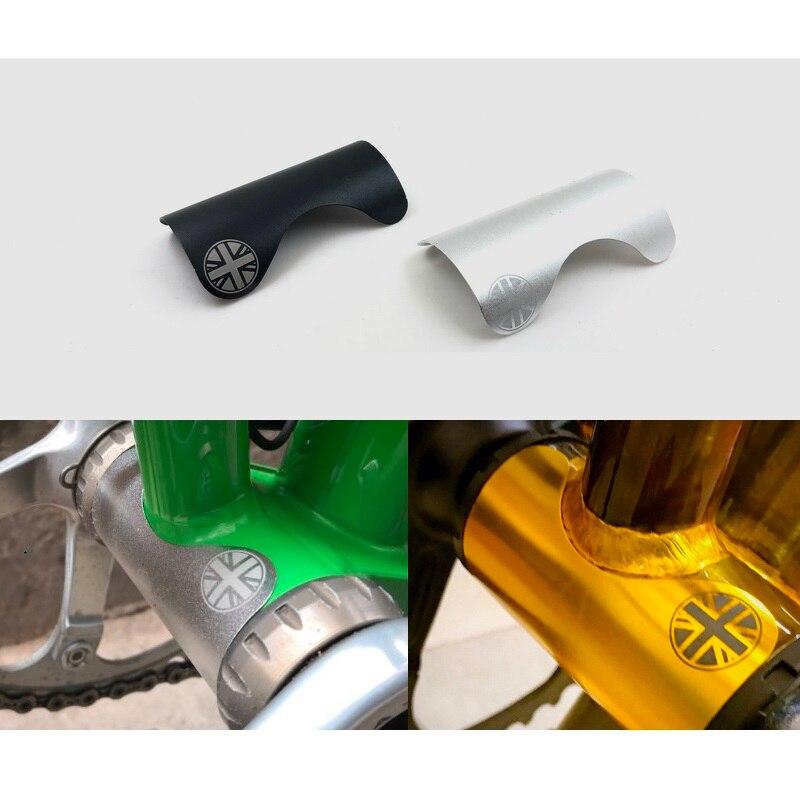 Folding Bike Bottom Bracket Protective Device Aluminum Alloy Sticker Brompton Bicycle Bottom Brackets Protection