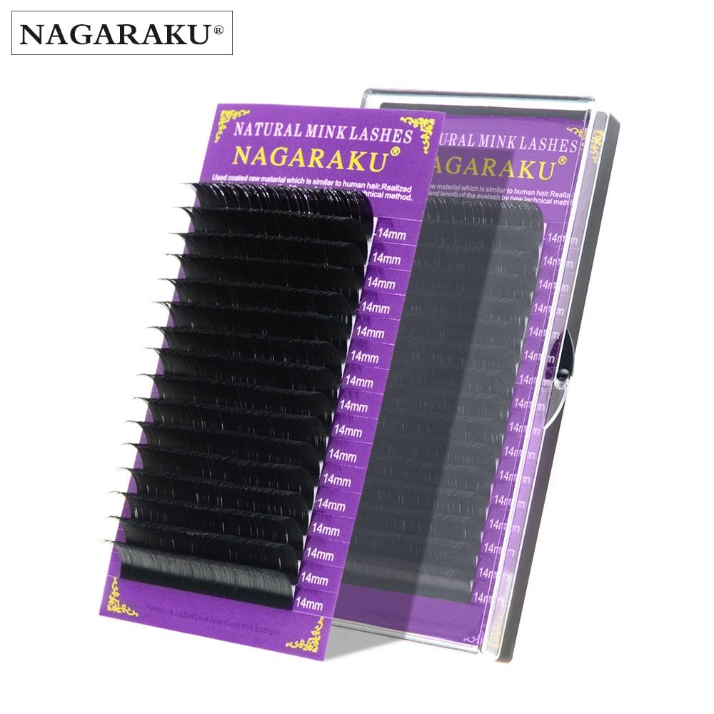NAGARAKU 5-17mm JBCD high quality mink lashes faux mink individual lashes soft natural eyelashes cilia lashes eyelash extension 1