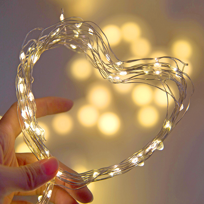 1/2/3M Copper Wire LED String lights Holiday lighting Fairy Garland For Christmas Tree Wedding Party Decoration
