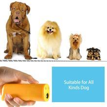 Отпугиватель для питомцев, собак, Анти лай, светодиодный, лай, ультразвуковой тренажер, 1, устройство для обучения от батареи, без 3, ультразвуковой