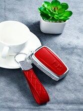 Роскошный Алмаз & цинковый сплав автомобильный ключ чехол брелок для Toyota Camry Авалон венчик RAV4 в Тойота Приус с-HR ЧР Прадо 2018