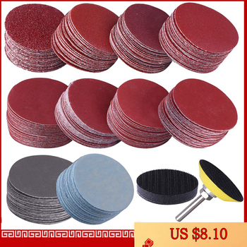 200Pcs 50mm 2 Inch Sander Disc Sanding Discs 80-3000 Grit Paper with 1Inch Abrasive Polish Pad Plate + 1/4 Inch Shank for Rotary 1