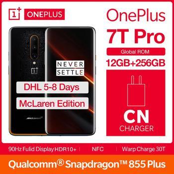 "NEW Original Global ROM OnePlus 7T Pro 12GB 256GB Mclaren Edition Smartphone Snapdragon 855Plus 90Hz AMOLED 6.67"" NFC Android 10"