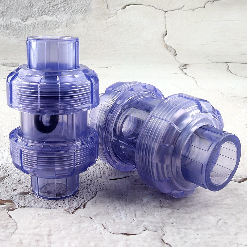 Check-Valve UPVC Water-Pipe Aquarium-Tank Transparent Joint 20--63mm Flap Socket-Type title=