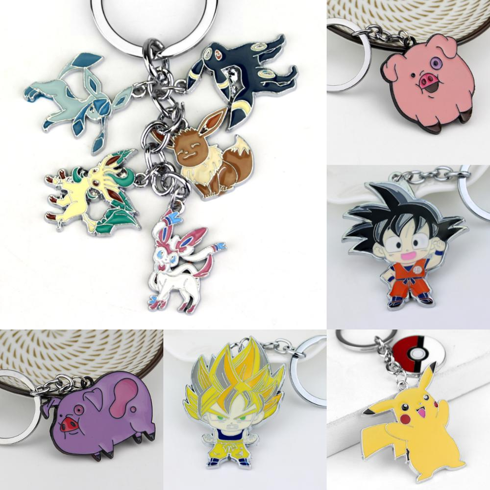 Pocket Monster Keychain Eevee Sylveon Umbreon Glaceon Leafeon Unisex Keyring Pendant Fans Gift Collectable