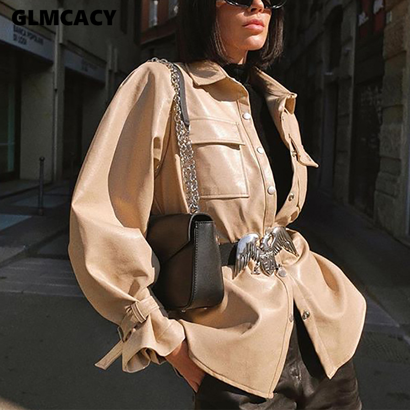 Женский отложной воротник с поясом женский жакет в стиле кэжуал Осенняя верхняя одежда куртки хаки шикарный шик уличная|Базовые куртки| | - AliExpress