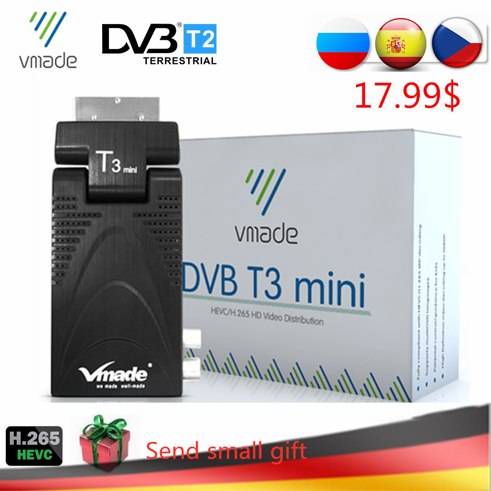 DVB-T2 T3 Mini H.265/HEVC HD Digital Terrestrial TV Decoder DVB-T TV Tuner Support Youtube AC3 Audio Fully 1080P MPEG-2/4 TV BOX