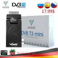 DVB-T2 T3 Mini H.265/HEVC HD Digital Terrestrial TV Decoder DVB-T TV Tuner Support Youtube AC3 Audio Fully 1080P MPEG-2/4 TV BOX