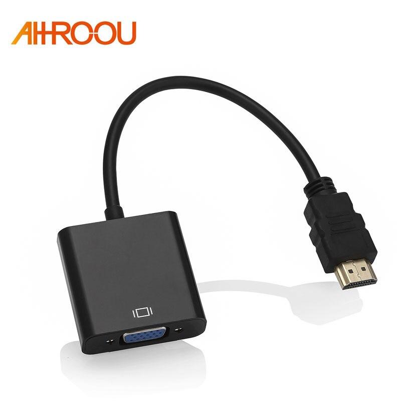Высокое качество HDMI в VGA адаптер мужской в Famale конвертер адаптер 1080P цифро-аналоговый видео аудио для ПК ноутбук планшет