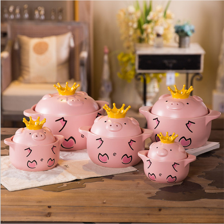 Cartoon Ceramic Casserole Pig High Temperature Pot