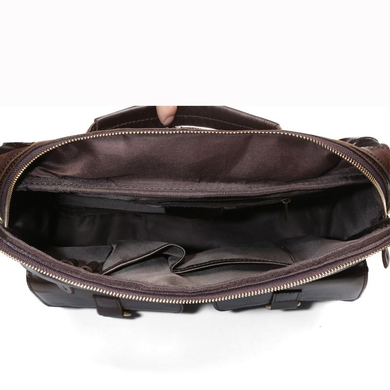 MVA Business porte-documents sacs hommes en cuir véritable sac pour Document 14 pochette d'ordinateur porte-documents en cuir sacs de bureau pour hommes 8001 - 6