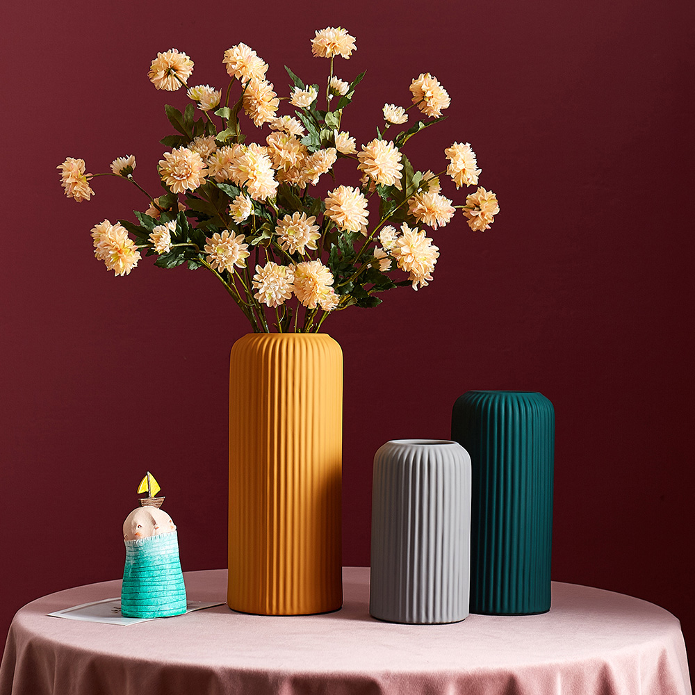 Ceramic Flower Vase Home Decoration Nordic Tall Floor Vases For Living Room Decoration Table Wedding Vase Decoration Household