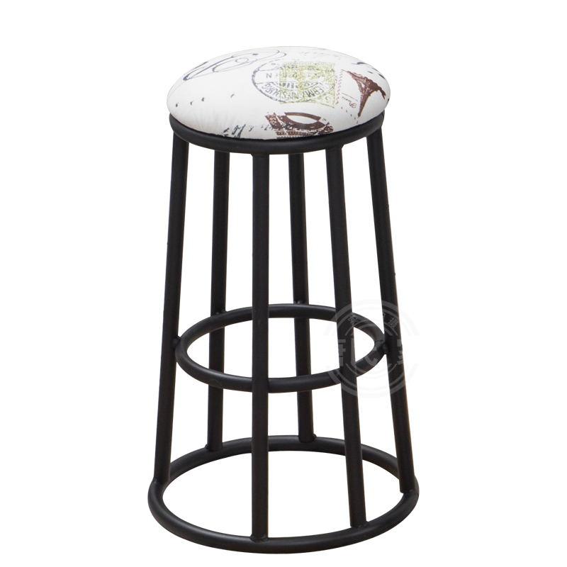 Retro Iron High Bar Counter Bar Stool Mobile Phone Shop Business Tea Shop Bar Chair