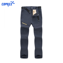 COPOZZ Winter Spring Hiking Camping Trekking Skiing Trousers Oversized 2 in 1 Detachable Warm Outdoor Fleece Pants Men Women 4XL