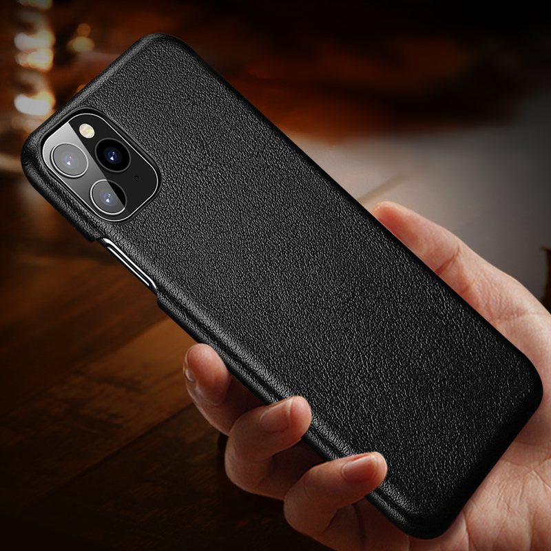 100% Original Genuine Leather Phone Case For Iphone 11 Pro Max Case Real Leather Hard Back Cover For Iphone X XS Max XR Case
