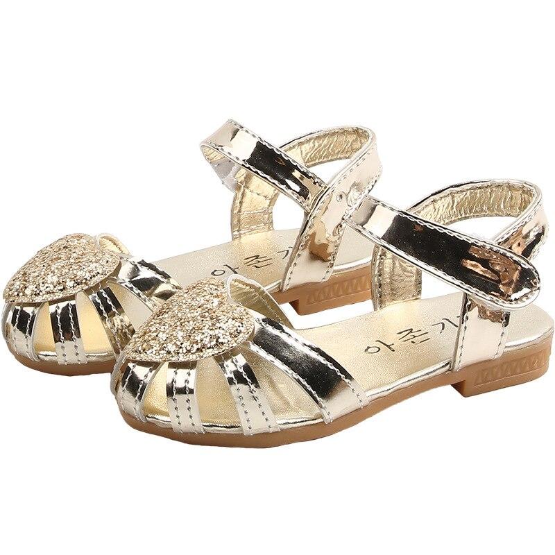 Sequin Big Girl Sandals Children School Sandals Kids Shoes For Girls Shoes Summer Party Princess Shoes 3 4 5 6 7 8 9 10 11 12