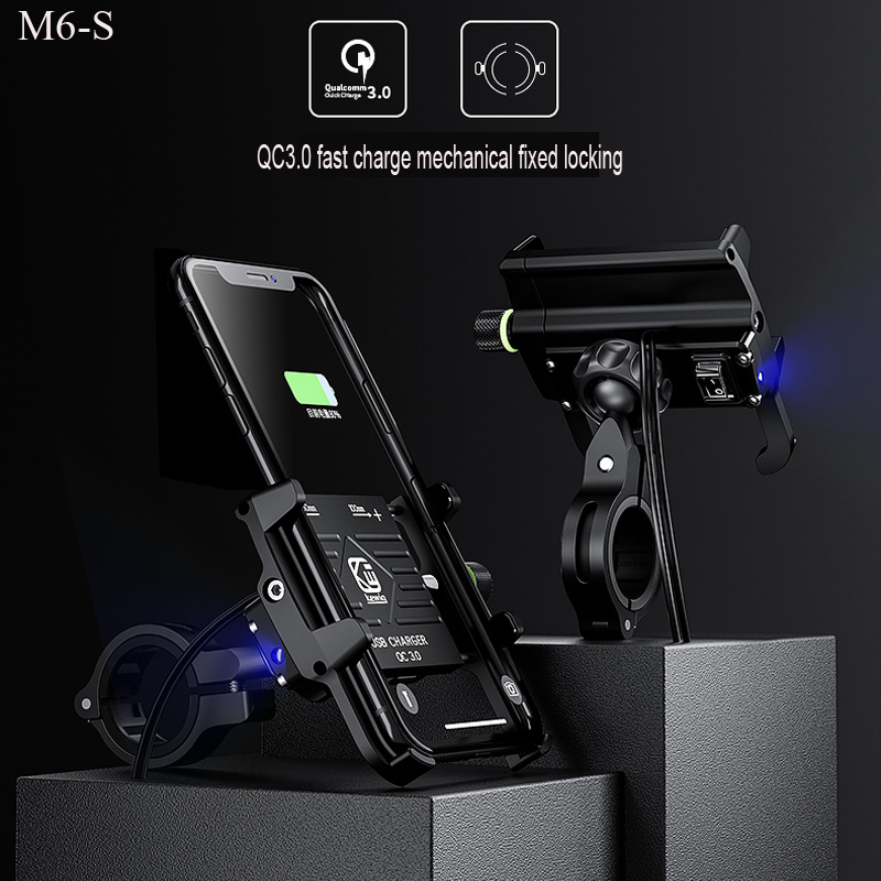Bicycle Bike MTB Phone Holder With USB Charger Motorcycle Mobile Phone Holders Stands Moto Phone Holder Universal For Iphone XS