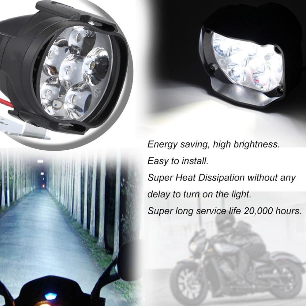 2020 Motorcycle Headlight Fog Scooter LED Spotlights Moto 12V 6500 K Working Motor Spot Light Head Lamp DRL White Car Headlight