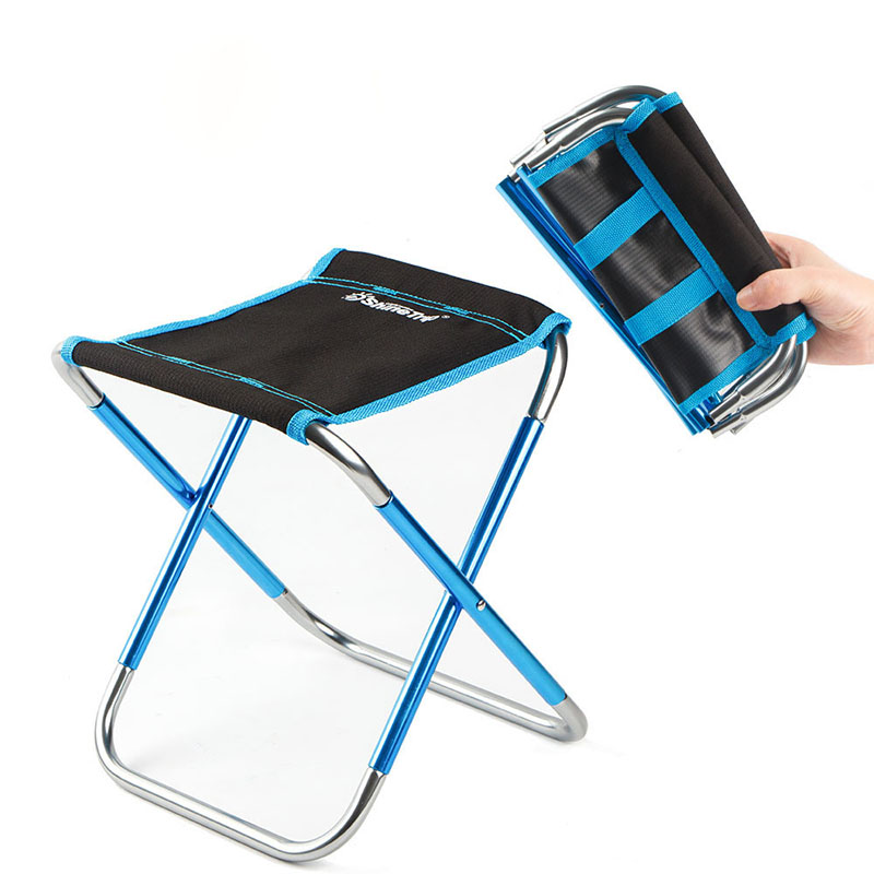 Mini Travel Gadget Portable Fishing Chair Metro Lightweight Portable Seat Telescopic Folding Stool Adult Outdoor Camping Chair