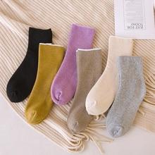 все цены на Solid Color Warm Socks Women Plus Velvet Thick Socks Snow Winter Funny Socks Femme Boots Floor Sleeping Sock Calcetines meias