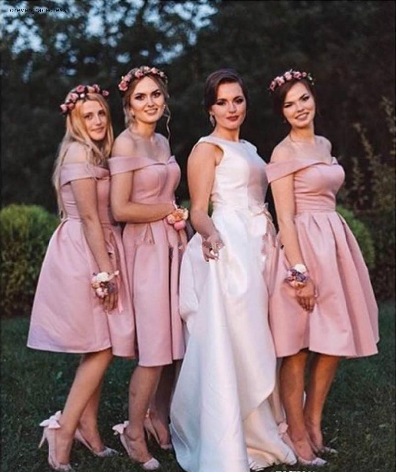 2019 Sexy Summer Spring Off Shoulder   Bridesmaid     Dress   Country Garden Formal Wedding Party Guest Maid of Honor Gown Plus Size