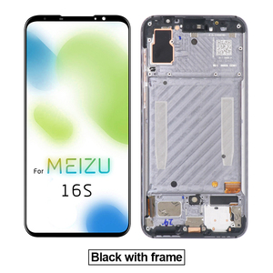 """Image 2 - AiBaoQi Original For 6.0"""" Meizu 16S 16 S LCD Display Screen+Touch Panel Digitizer For Meizu 16S AMOLED LCD Display with frame"""