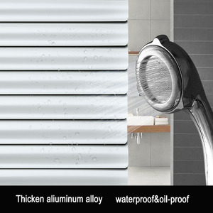 Image 4 - Dostosowane 25mm listwy aluminiowe rolety odporne na promieniowanie UV wiercenie lub brak systemu wiercenia rolety zaciemniające do dekoracji wnętrz