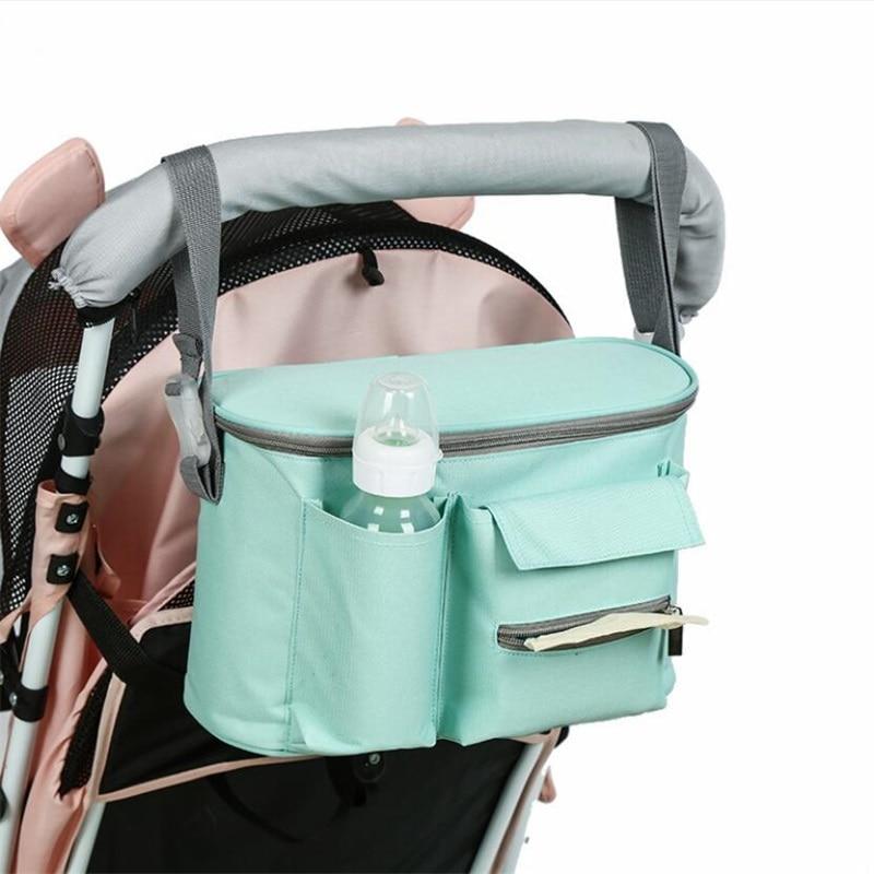 Baby Diaper Mom Bags Pram Cart Stroller Hanging Bag Waterproof Outdoor Travel Mommy Bags Travel Trolley Backpack Maternity Bag