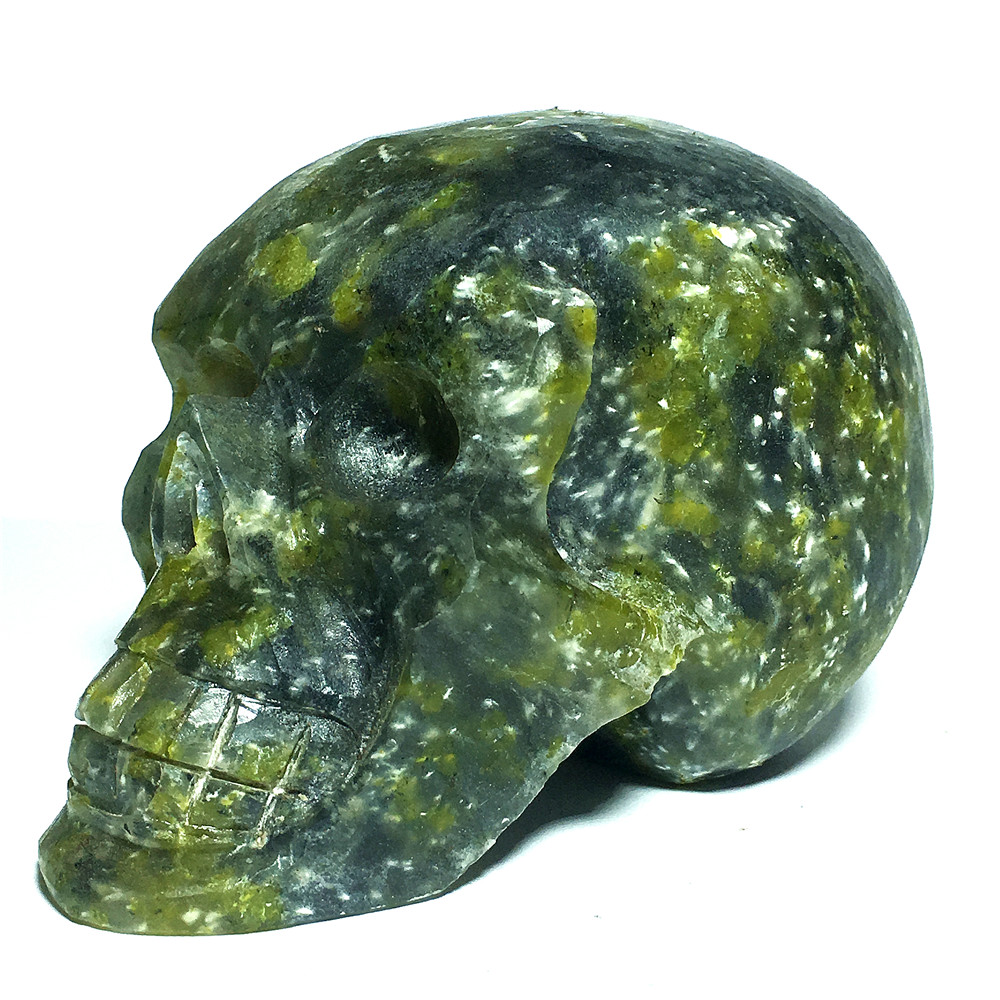Crânes de cristal de jade vert naturel à vendre pierres et cristaux décoration de la maison cristal décoratif