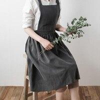 Retro amerykański Lady kobiety fartuch bawełniana pościel wysokiej jakości fartuch kuchenny na gotowanie pieczenia restauracja zdjęcie rekwizytu w jednolitym kolorze w Fartuchy od Dom i ogród na