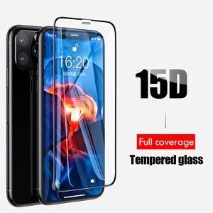 Image 5 - 15D フル保護強化ガラスのための iphone 6 7 6s 8 プラス X XS 最大 XR 用 iphone 11 プロマックス 7 6 4s ガラス