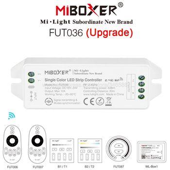 MiBOXER FUT036 (Upgrade) pojedynczy kolor kontroler taśmy ledowej DC12V 24V aplikacja na smartfona 2 4GHz RF Remote Alexa sterowanie głosem tanie i dobre opinie veromount Smartphone APP 2 4GHz RF Third Party Voice Single COlor Smartphone APP 2 4GHz RF Third Party Voice Control