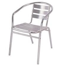 Outdoor Garden Modern Frame Airport Tube Dining Cheap Cafe Aluminum Chair