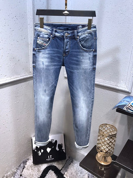 Homme New Jeans Men Casual Slim Stretch Jeans Classic Denim Pants Trousers Plus Size 29-42 High Quality