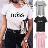 Oui patron manches courtes T-shirt femmes T-shirt été Camisetas Mujer manches courtes t-shirts coton femmes T-shirt décontracté chemise Femme