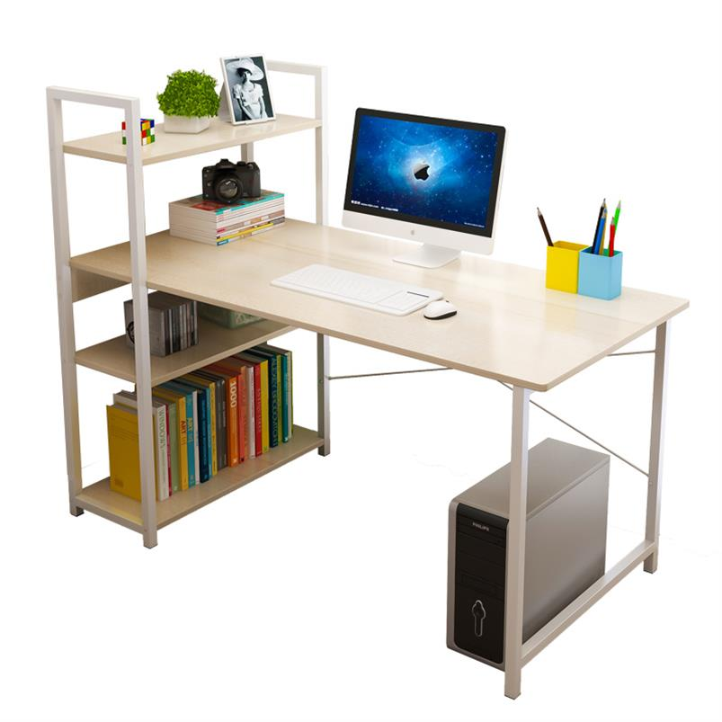 Computerized Desktop Simple Modern Single Bedroom Simple Office Desk Bookshelf Combination