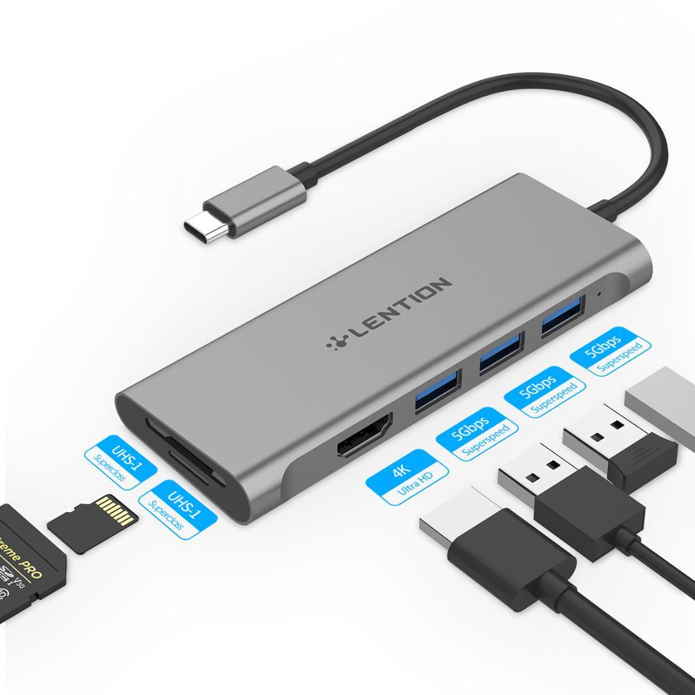 USB C HUB Type C To Multi USB 3.0 HUB HDMI Adapter Dock For MacBook Pro 16 Huawei Mate 30 USB-C 3.1 Splitter Port Type C HUB