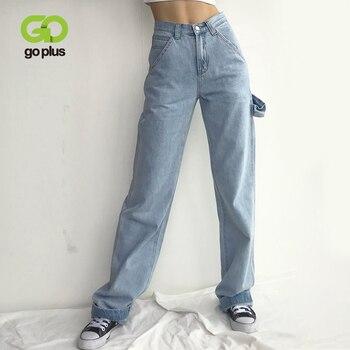 GOPLUS Jeans Woman Boyfriend Straight Denim Pants High Waist Full Length Mom Femme 2020 Nouveau Broeken Dames C10609 - discount item  50% OFF Jeans