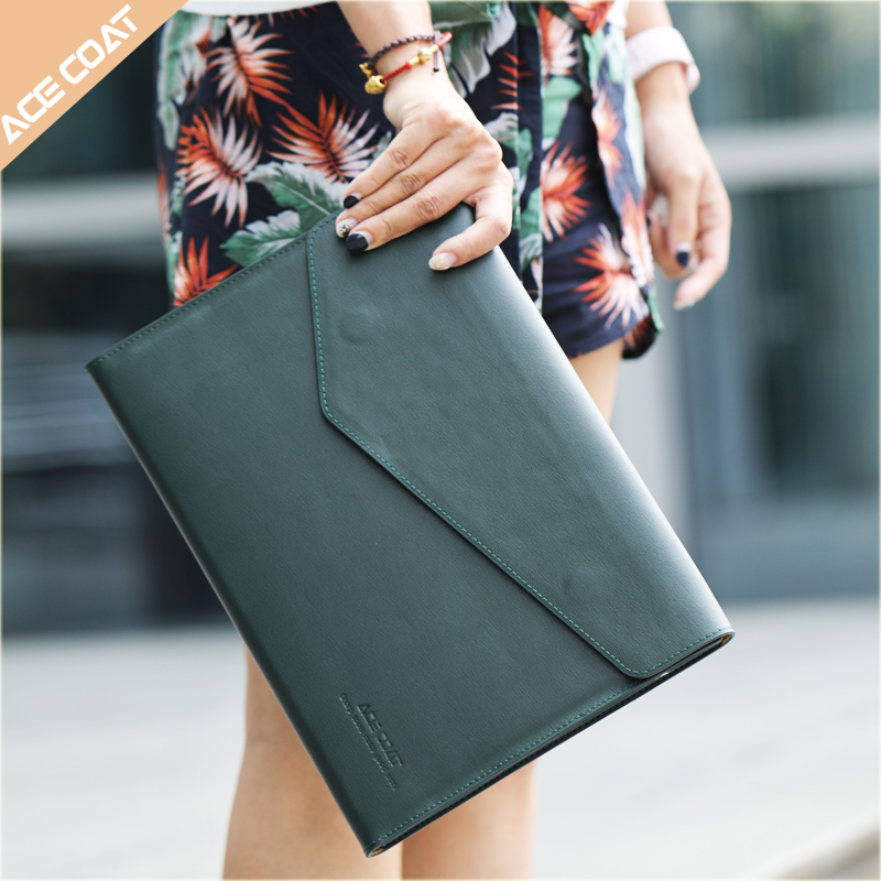 Leather <font><b>laptop</b></font> Sleeve Case for Macbook Air <font><b>13.3</b></font> Pro 15 Retina 11 12 13 14 15.6 inch <font><b>bag</b></font> for apple macbook pro 13 2019 case image
