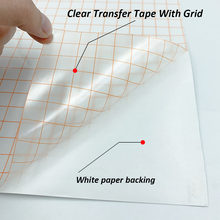Clear Vinyl Application Tape w/Blue Alignment Grid for Car Wall Craft Art Decal Transfer Paper Tape Adhesive DIY 30cm*100cm