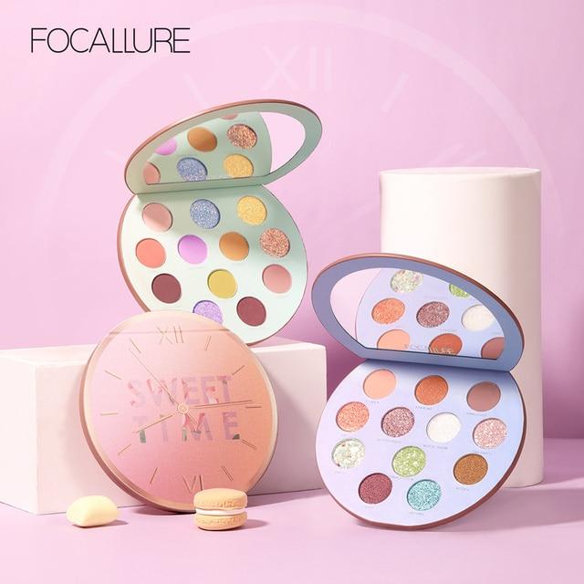 FOCALLURE Neueste Lidschatten palette Myserious Zeit 12 Farben Shades Von Palette Glitter Make Up Lidschatten