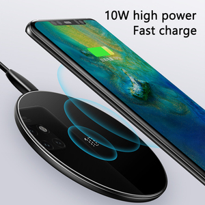 Image 2 - Baseus специальный дизайн 10 Вт Qi Беспроводное зарядное устройство для P30 P30 Pro быстрая Беспроводная зарядка Pad для Mate 20 Pro Samsung S10 S9 S8