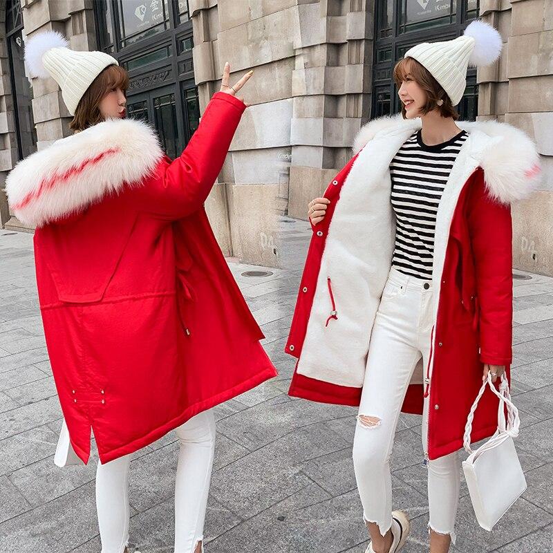 2019 Warm Winter Jacket Women Hooded Plus Size Thicken Parkas Outwear Loose Style Warm Winter Coat Women