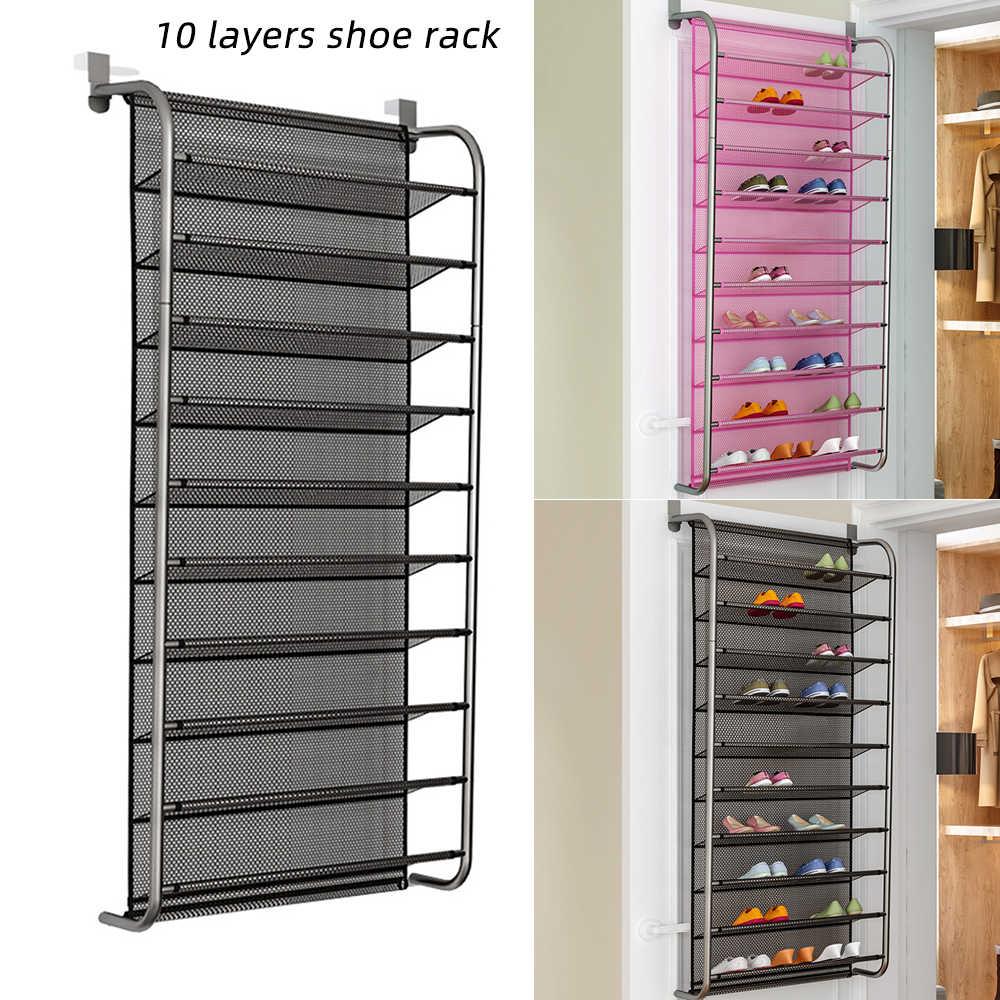 1Pc 36 Pair Over Door Hanging Shoe Rack