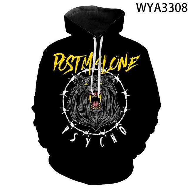 """Post Malone """"PSYCHO"""" Printed Sweatshirt Hoodie 1"""