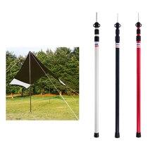 Toldo de tienda de campaña de 3 secciones, aleación de aluminio 6061, barra de soporte para dosel, para acampar al aire libre, senderismo, accesorios para tiendas