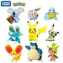 TOMY – Collection de figurines Pokémon Pikachu, 4-6cm, jouets d'action, Anime, pour enfants, boîte cadeau officielle