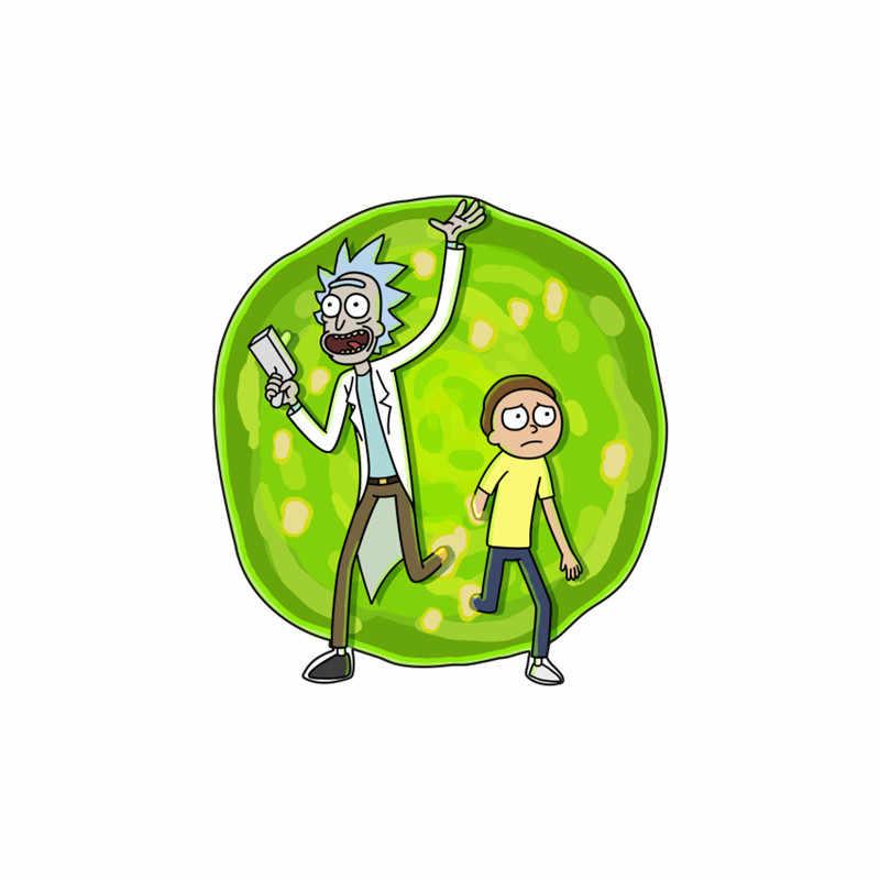 1PCS Del Fumetto di Rick E Morty Icona Distintivo Acrilico Per La Decorazione Su Vestiti Zaino Sciarpa Regali Festa di Halloween di Modo Spilla spille