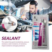 Automobile Sealant Spacer Professional Auto Silver Repair Glue Strong Engine Glue Silicone Rubber Replacement Gasket 100G()