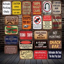 [WellCraft No celular Phong aparcamiento sólo ferroviario bombero Metal estaño signos Vintage de pintura de la pared de decoración LT-2008